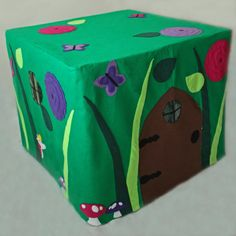 Pixie Place - make your own fairy garden fort that fits over a card table. Easy to set up and take down.