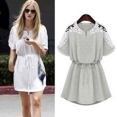 Kleid mit Spitzen-Details - Jetzt reduziert bei Lesara