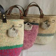 planet green 本日ブログupした麻ひもバッグ。 ブログにはミニバッグ画像載せるの間に合いませんでした。 明日の平内春フェス『よごしやマーケット』に持っていきまーす✨ #crochet - planetgreen_sakai_hiroko