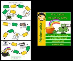 Students can celebrate St. Patrick's Day and practice multiplication/divisions facts.