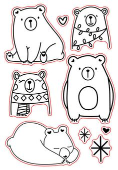 / clear transparent stamps for DIY Scrapb Ours/tampons transparents transparents pour bricolage Scrapbooking/fabrication d… Bear / Clear Transparent Stamps For DIY Scrapbooking / Card Making / Kids Fun Christmas Decoration Supplies Card - Christmas Drawing, Christmas Crafts, Diy Scrapbook, Scrapbooking, Animal Drawings, Cute Drawings, Embroidery Patterns, Hand Embroidery, Tampons Transparents