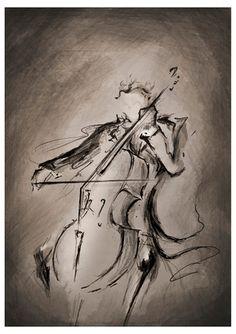 ideel   Wall Decor sale MARC ALLANTE The Cellist