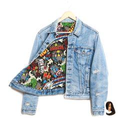 Runwaydreamz Rwdz X Marvel Iron Man X Padded Jacket by Levis (AUD ❤ . - Runwaydreamz Rwdz X Marvel Iron Man X Padded jacket by Levis (AUD ❤ likes … – # - Marvel Fashion, Nerd Fashion, Fandom Fashion, Fashion Outfits, Moda Marvel, Marvel Comics, Mode Geek, Marvel Clothes, Marvel Shoes