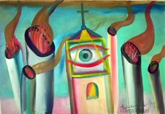 el ojo 2. Painting of the Serie Surrealism for sale by artist Diego Manuel