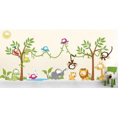 #Muursticker #jungle #dieren