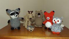 Woodland Critters Set Raccoon, Deer, Beaver, Fox, Owl and Hedgehog