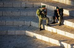 https://flic.kr/p/8PvE5x | IMG_Holy Land_9576 | IDF soldiers in the Old City of Jerusalem near Damascus Gate.