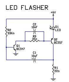 Very simple 2 transistor led flasher circuit electrical projects, electrical engineering, electronic engineering, Electronics Projects, Simple Electronics, Electronic Circuit Projects, Electronic Engineering, Electrical Engineering, Led Projects, Electrical Projects, Basic Electrical Circuit, Electrical Wiring