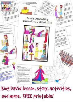 This King David lesson is great for letting the kids see the importance of obeying God in a fun hands on way.
