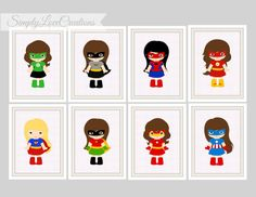 Superhero Prints - Comic Book, Girls Room Decor, Playroom, Girls Super Hero Nursery, Superhero Decor, 5x7 Prints, Batgirl - Super Girl