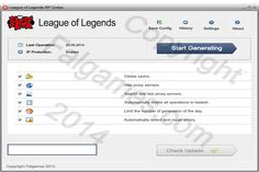 FalGames has got a League of Legends RP Codes which is a small program which adds Riot Points in League of Legends.