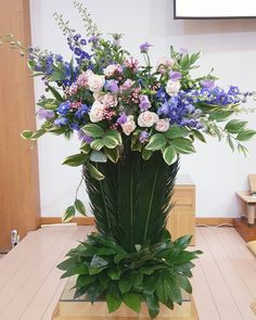 Church Flower Arrangements, Floral Arrangements, Blue Wedding, Altar, Bouquet, History, Artist, Flowers, Plants