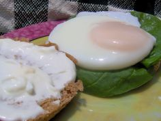 Florentine Eggs on English Muffins INGREDIENTS 1⁄4cupplain yogurt 1tablespoonlight mayonnaise 1⁄2teaspoonDijon mustard 2eggs 1English muffin, split and toasted 1⁄2cup fresh baby spinach leaves DIRE...