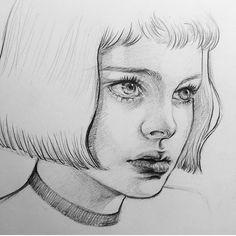 ✰ léon: the professional Portrait Au Crayon, Portrait Art, Portraits, Pencil Art Drawings, Art Drawings Sketches, Arte Sketchbook, Human Drawing, Portrait Sketches, Sketch Painting