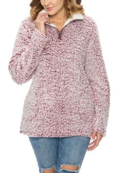 Shaggy Sherpa Pull-Over Shaggy, Collars, Zip Ups, Pullover, Knitting, Sweaters, How To Wear, Collection, Fashion