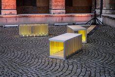 3 bancs  anais bretonnet Banc Lumineux by Anaïs Bretonnet furniture 2 labodesign  urbain rhone lyon lumineux light french designer design index design banc Anaïs Bretonnet