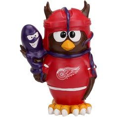 Detroit Red Wings Thematic Owl. I need this in my life.