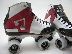 Custom Antik AR1's. Sure Grip Avenger DA45 mag plates with Back Alley wheels.  DCRA colours too...Dream skates.