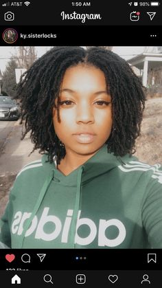 cute middle part on loc'd hair Sister Locks Hairstyles, Short Locs Hairstyles, Protective Hairstyles, Updo Hairstyle, Black Hairstyles, Wedding Hairstyles, Natural Hair Short Cuts, Natural Hair Styles, Beautiful Black Hair
