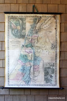 Palestine Wall Map - Antique Maps and Charts – Original, Vintage, Rare Historical Antique Maps, Charts, Prints, Reproductions of Maps and Charts of Antiquity