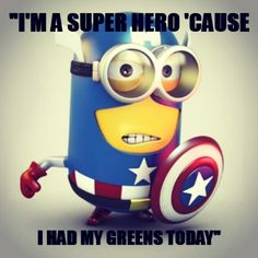 Bring out the super hero in you today by being healthy for you & your family!