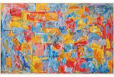 Jasper Johns US Map, Framed on OneKingsLane.com