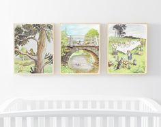 Classic Pooh, Winnie the Pooh Prints, Pooh Nursery Art, Pooh Wall art, Children's Art, Pooh Quote, Pooh Art Print Set, Pooh Baby Shower Gift Nursery Themes, Nursery Art, Girl Nursery, Winnie The Pooh Nursery, Childrens Wall Art, Classic Books, Creative Art, Baby Shower Gifts, Quote
