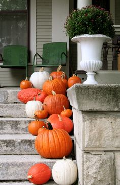front porch in fall