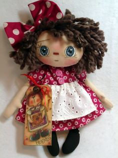 Primitive Raggedy Doll - by Allisbright on Etsy