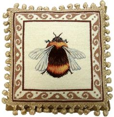 French Country Bee Decor Pillow