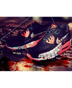 timeless design c508d 4e712 Moins cher Femme Chaussures - Nike Air Max 90 Custom Tokyo Ghoul Edition Air  Max 90