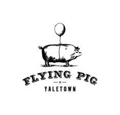THE FLYING PIG by alsoKNOWNas studio, via Behance Logo Branding, Branding Design, Logo Design, Graphic Design, Pig Restaurant, Restaurant Design, Restaurant Logos, Restaurant Website, Identity