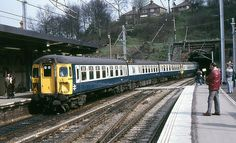 The first passenger carrying electric train service at Ipswich, 17th. April 1985.