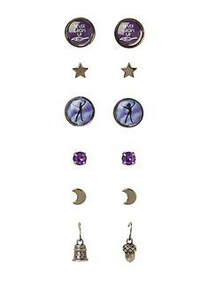 Disney Peter Pan Earring 6 Pair,