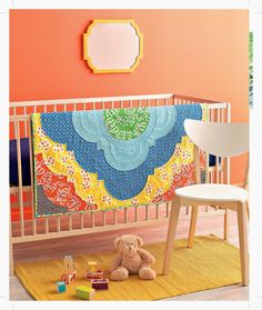 A Quilter's Mixology in Review - Day 5 (and giveaways!) Thursday, June 19, 2014. This photo: Baby quilt, Medallion.