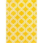 StarBright Calipso Yellow 7 ft. 10 in. x 10 ft. 6 in. Kids Area Rug