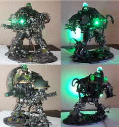 Necrons Imperial Knight Conversion Warhammer 40k Necrons, Warhammer Fantasy, Necron Army, Nice Things, Things To Come, Imperial Knight, Total War, The Grim, Mini Paintings