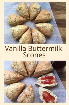 These easy to make, Vanilla Buttermilk Scones will become the basic, go to recipe, for all your scone making. Easily adapted to add other flavour combinations and ingredients, from grated cheese to fresh berries. Vanilla Scones Recipes, Buttermilk Scone Recipe, Scone Recipes, Tea Recipes, Recipies, Bread Maker Recipes, Baking Recipes, Fruit Scones, Grated Cheese