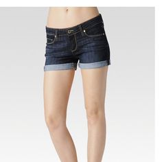 Paige Denim JIMMY JIMMY SHORT - DEAN These not-too-slouchy boyfriend shorts have ease at the waist & hips for a style that looks borrowed from the boys but is tailored to your frame. Rolled cuffs keep the look effortlessly casual.  69% cotton 30% polyester 1% elastane Paige Jeans Shorts