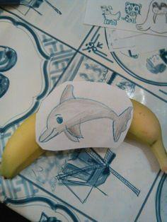 Puntopdracht banaan tattoo