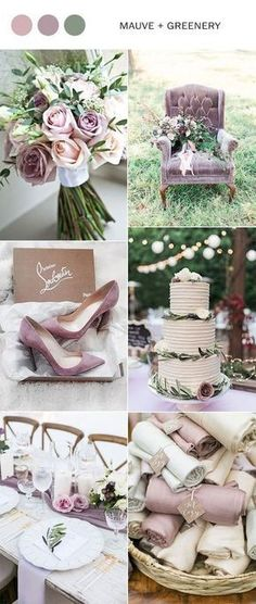 Wedding Trends mauve and greenery elegant wedding color ideas for 2018 Elegant Wedding Colors, Mauve Wedding, Rose Wedding, Wedding Flowers, Dream Wedding, Wedding Day, Trendy Wedding, May Wedding Colors, Spring Wedding