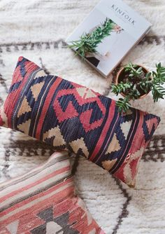 Accent pillows are the perfect way to easily add style and interest to your home. Kilim pillows are relaxed and cozy and are made with organic, woven materials. Whether you want an earthy vibe, a boho-chic look, or just a little rustic flair, pick up a few of these lovely patterned pillows.