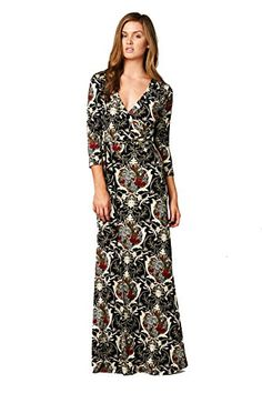On Trend Paris Dress Baroque Bohemian 3/4 Sleeve Long Maxi Dress (Small) On Trend http://www.amazon.com/dp/B00HFL6CCC/ref=cm_sw_r_pi_dp_zrdwub09H6VX8