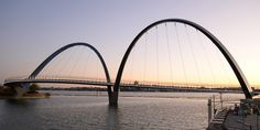 Bridge in Perth resembling the golden arches of McDonald's