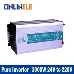 (265.50$)  Watch more here - http://ai852.worlditems.win/all/product.php?id=32759155116 - Smart Series Pure Sine Wave Inverter 3000W CLP3000A-242 DC 24V to AC 220V 3000w Surge Power 6000W Power Inverter 24V 220V