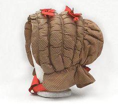 Romantic History: Original 1860's Quilted Silk Bonnet - Yum!
