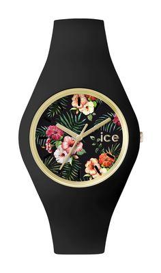 41c316ad206b4 Ice-Watch - ICE flower Colonial - Montre noire pour femme avec bracelet en  silicone - 001298 (Medium): Ice-Watch: Amazon.fr: Montres