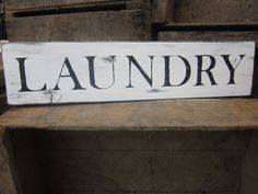 LAUNDRY Room Wooden Sign