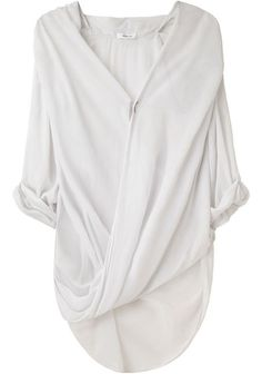 Helmut Lang overlap shirt - DZ: This is beautiful.
