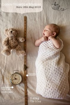 Carly Hack Photography - super cute idea for a birth announcement